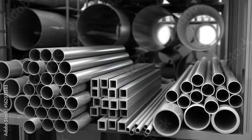 Fotografia  Metal Pipes in Storage