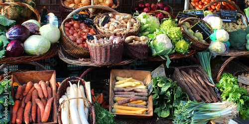 Fotografía Vegetables market (Bourgogne - France)