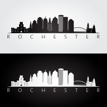 Rochester USA Skyline And Land...