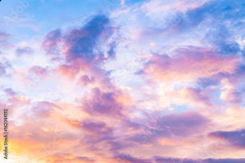 Fotografie, Obraz  Pinky sky - Vanilla sky - candy sky