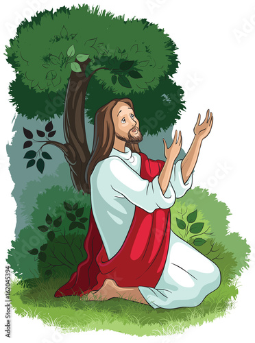 Photo Bible stories of Jesus. The agony in the garden