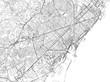 Cartina di Barcellona, città, strade e vie, Spagna