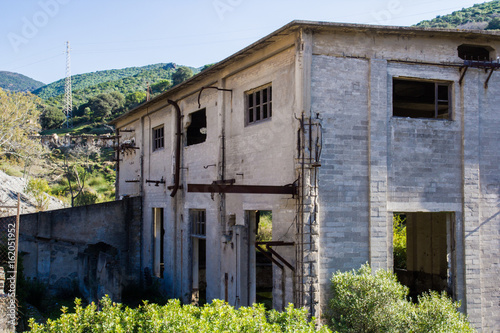 Staande foto Industrial geb. Archeologia industriale: miniera di Ingurtosu, Arbus, Montevecchio, Sardegna