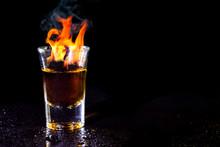 Hot Alcoholic Cocktail Burning...