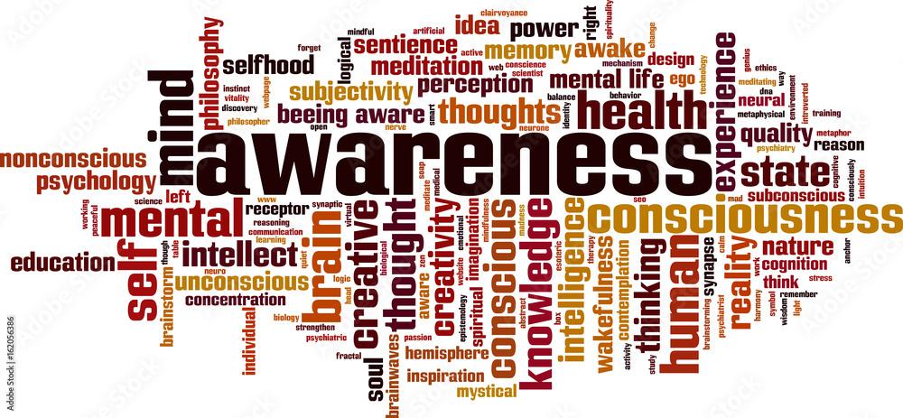 Fototapeta Awareness word cloud