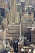 View of rooftops on residential and business buildings in midtown Manhattan