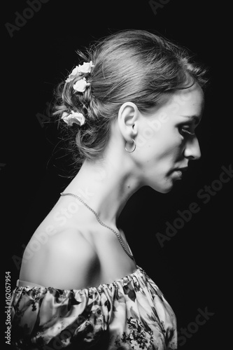 Profile of the girl in contrast lighting  sc 1 st  Adobe Stock & Profile of the girl in contrast lighting - Buy this stock photo and ...