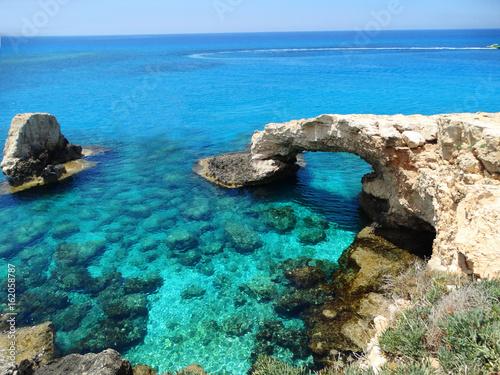 Deurstickers Cyprus rocky coast landscape mediterranean sea Cyprus island