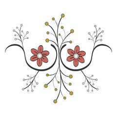 Naklejkanaturals flowers tattoos icon vector illustration design graphic
