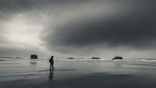 An Overcast Day At The Beach.