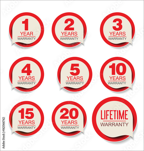 Fotografía  Guarantee stickers modern design collection