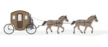 Carriage With Horses And Drive...