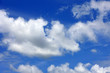 White puffy clouds in a blue sky over Florida