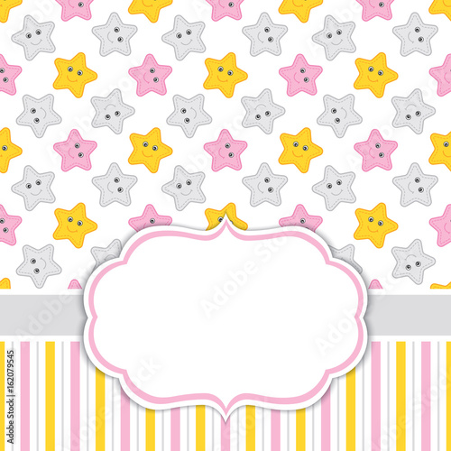 Card Template with Stars Background Canvas-taulu