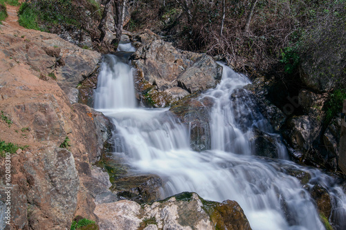 Waterfall at the Hidden Falls Regional Park, Auburn, California, USA, in the end Canvas Print