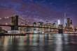 ブルックリン橋とニューヨークの夜景