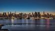 ニューヨーク・マンハッタンの朝焼けのパノラマ