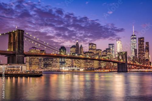 Printed kitchen splashbacks Brooklyn Bridge ブルックリン橋とニューヨークの夜景
