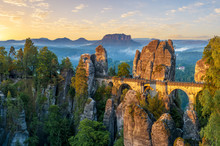 The Bastei Bridge, Saxon Switz...