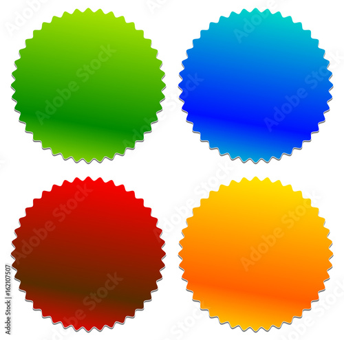 Starburst shaped badge, button shape with copyspace Canvas Print