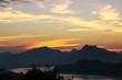 Sunset scene in Luang Prabang, Laos.