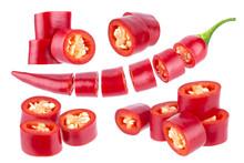 Sliced Chili Pepper. Cut Red H...