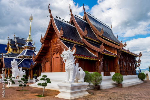 Deurstickers Bedehuis Ban Den temple is a Thai temple which is located in the northern part of Thailand It is one of the most beautiful and famous Thai temples in Chiang Mai