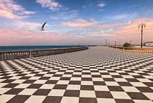 Promenade Of Livorno (Leghorn), Tuscany, Italy