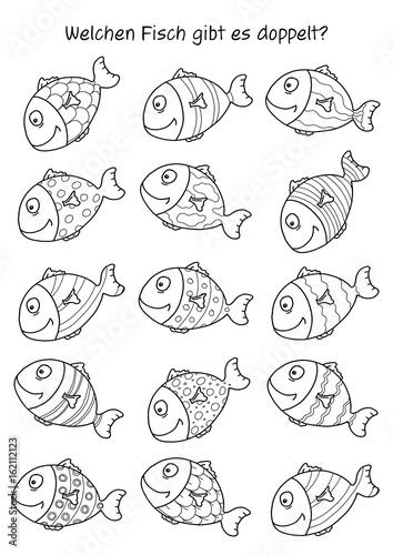 Stampe  Rätselbild – Fisch-Paar finden