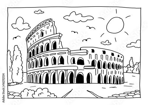 Ausmalbild Kolosseum In Rom Kaufen Sie Diese