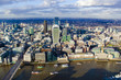 London city center, aerial view