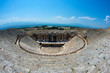 Roman Theater in Pamukkale, the ancient city of Hierapolis Turkey,