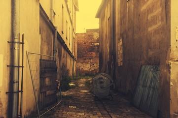 Fototapeta na wymiar backyard alley