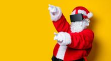 Funny Santa Claus Have A Joy W...