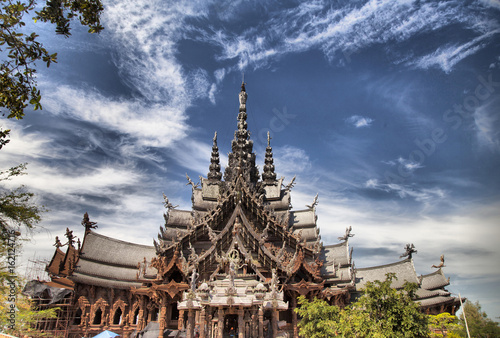 Spoed Foto op Canvas Temple Beautiful Buddhist temple