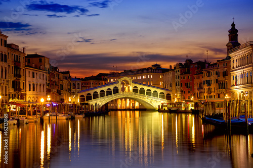 Photo sur Toile Venise Sunrise over Grand Canal in Venice, Italy