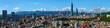canvas print picture - Wide panorama of the center of Taipei City, capital of the country of Taiwan
