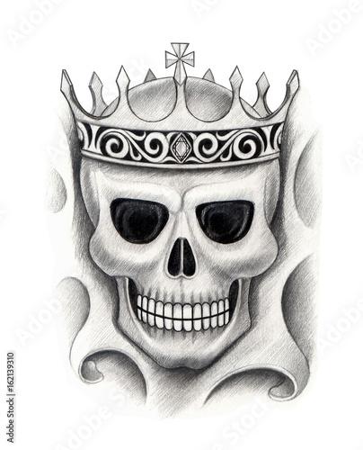King Skull Tattoo