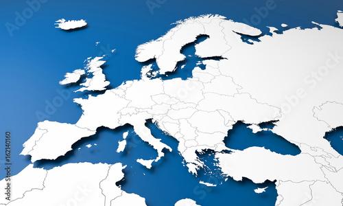 Obraz na plátne 3D Europe map