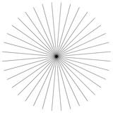 Element linii promieniowych. Abstrakcjonistyczna geometryczna ilustracja. Promieniujący, pękający wzór kołowy - 162143185