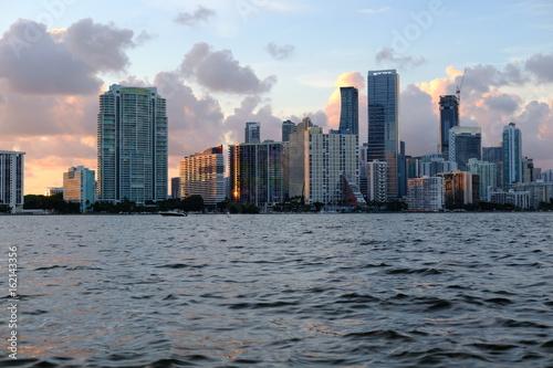 Plakat Downtown Miami Skyline w lecie
