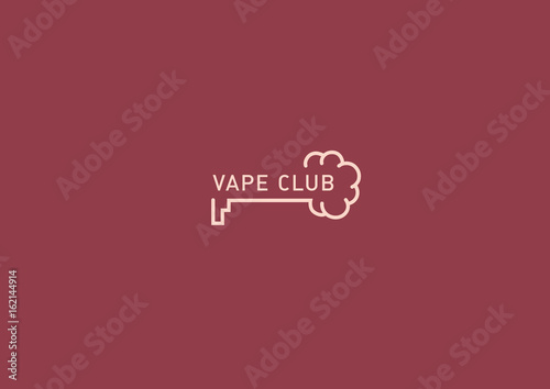 logo for the vape club, key and smoke - Buy this stock
