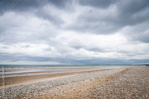 Photo Findhorn beach, Burghead Bay on the Moray Firth, Scotland.