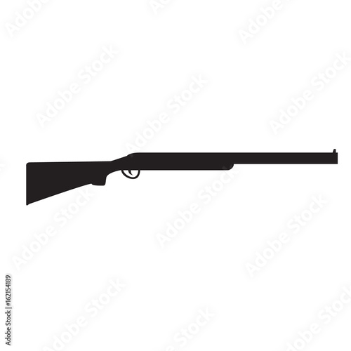 Obraz na plátne Silhouette of Shotgun, hunting rifle