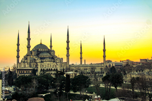 Foto  Blue mosque in Istanbul, Turkey