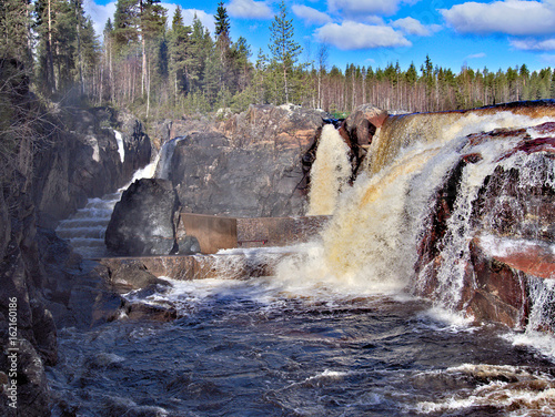 Poster Noord Europa Jockfall, waterfall in the north of Sweden