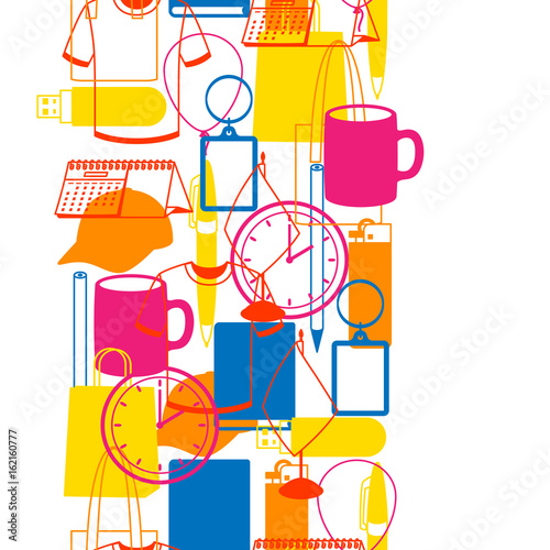 Fotografía Seamless pattern with promotional gifts and souvenirs