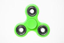 Green Fidget Spinner Isolated ...