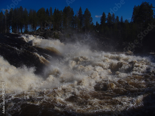 Foto op Plexiglas Noord Europa Jockfall, waterfall in the north of Sweden