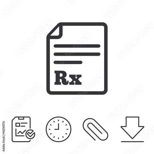 Medical Prescription Rx Sign Icon Pharmacy Or Medicine Symbol